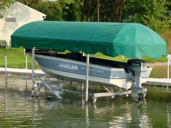 Newmans Boat Lift Canopy Cover By Shoretex Fabric Weathermax Fabric 9 Size S To Choose From