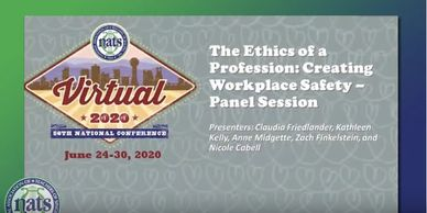 Intro screen for panel, with conference logo