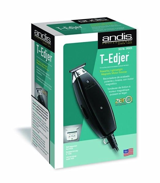 Andis T-Edjer Professional Hair Trimmer and T-Blade, Black (15430)