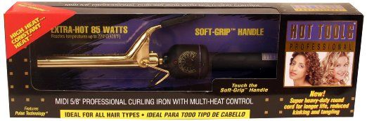 "Hot Tools Midi 5/8"" Prof. Spring Hair Curling Iron #1109"