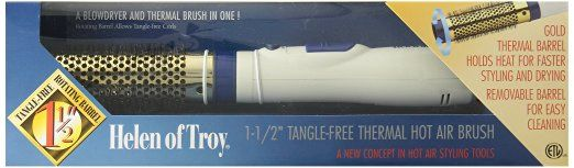Helen of Troy 1553 Thermal Hot Air Brush, White, 1 1/2 Inches Barrel