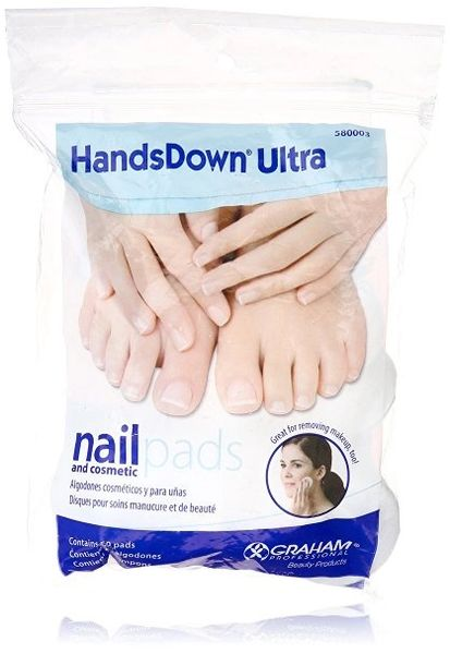 Graham Hands Down Ultra Nail and Cosmetic Pads, 60 Count