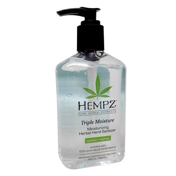 Hempz TRIPLE MOISTURE Moisturizing Herbal Hand Sanitizer 8.5oz