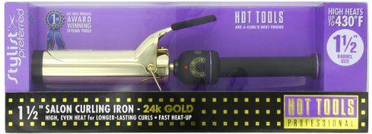 "Hot Tools Professional 1102 Curling Iron with Multi-Heat Control, Big Bumper 1-1/2"""