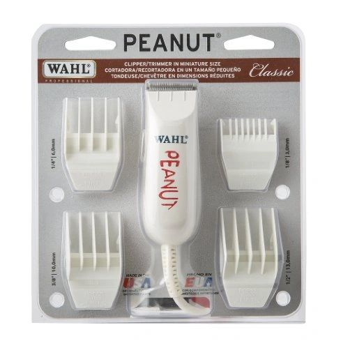 Wahl Professional Peanut Classic Clipper/Trimmer #8685, White - Great for Barbers and Stylists - Powerful Rotary Motor