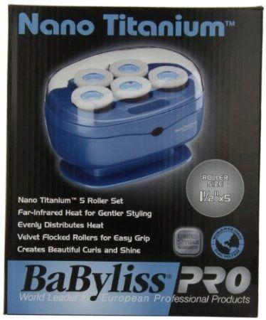 Babyliss Pro BABNTTS7 Nano Titanium Professional 5 Jumbo Roller Hairsetter
