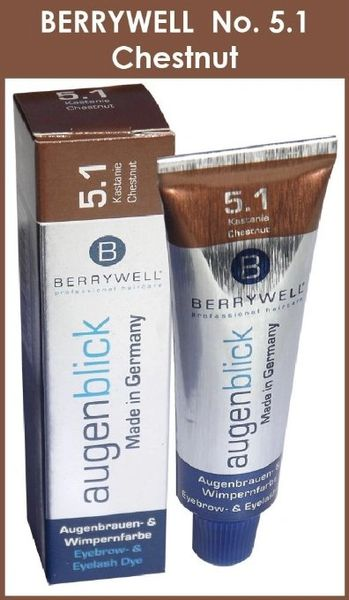 Berrywell Augenblick CHESTNUT (No. 5.1) RED REDDISH Tint Hair Dye from Germany