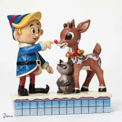 "Jim Shore - Rudolph Traditions - ""Hermey Touching Rudolph's Nose"""