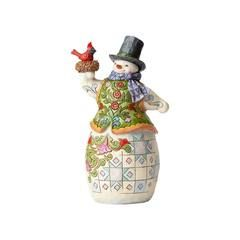 Festive Nesting - Snowman with Scarf and Cardinal