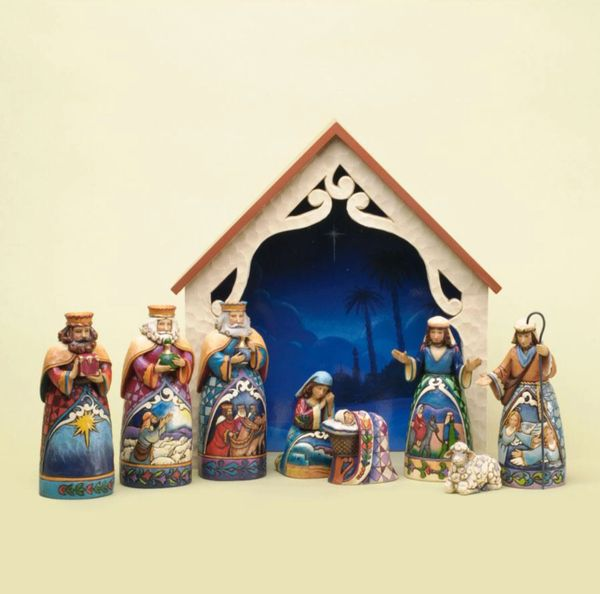 """Away In A Manger"" - Mini Nativity"