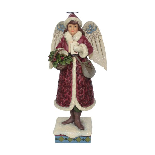 Merry Messenger - Victorian Angel Delivering Christmas Cards