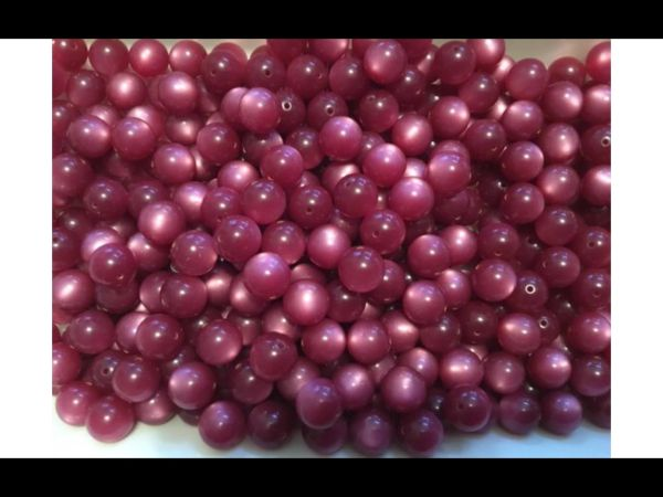 150 Vintage Moon Glow Lucite Beads - Boysenberry