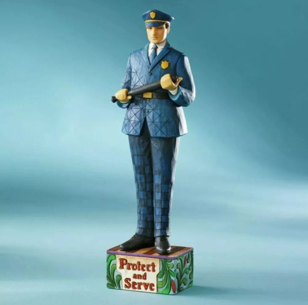 """Jim Shore- """"To Protect And Serve"""" Police Officer"""