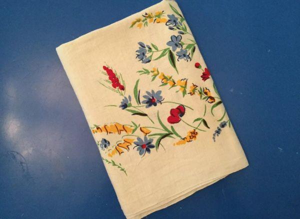 Vintage Printed Tablecloth - Floral