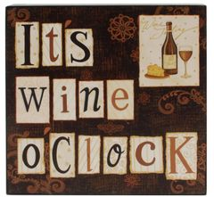'ITS WINE OCLOCK' WALL BOX SIGN