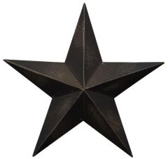 Antique Black Barn Star - 8""