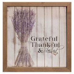 """Grateful Framed Shiplap Sign, 10"""""""