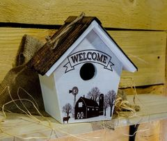 Welcome Wood Birdhouse