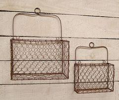 2/Set, Chicken Wire Wall Baskets
