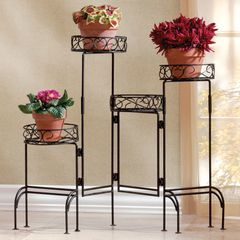 Versatile Foldable 4-Level Plant Stand