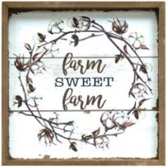 Farm Sweet Farm Cotton Sign