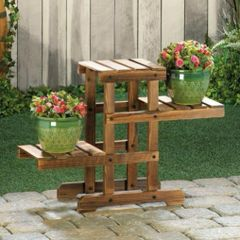 Multi-Level Wood Pallet Plant Stand