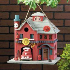 Fire Station Bird House