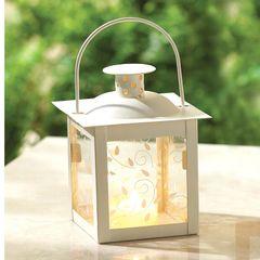 Vine Pattern Square Garden Lantern - 5 inches