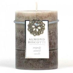 Almond Biscotti Pillar Candle - 4-inch
