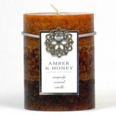 Amber & Honey Pillar Candle - 4-inch