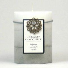 Creamy Coconut Pillar Candle - 4-inch