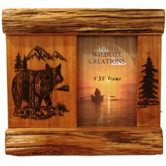 Engraved Bear Picture Frame
