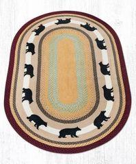 Cabin Bear Oval Rug