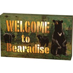 Welcome To Bearadise LED Light Box
