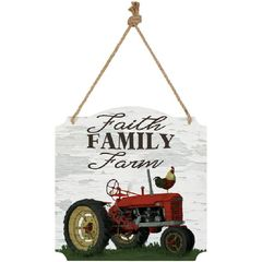 Metal WALL SIGN-FAITH FAMILY FARM
