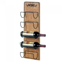 Rustic Wood 5-Bottle Wall-Mounted Wine Rack