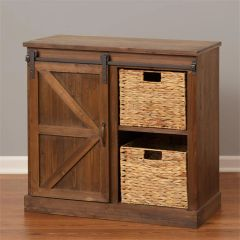 Cabinet - Barn Door, Baskets