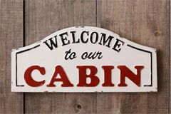 Sign - Welcome To Our Cabin