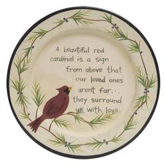 Loved One Cardinal Plate