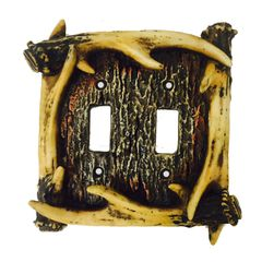 Antler Double Switch Plate Cover