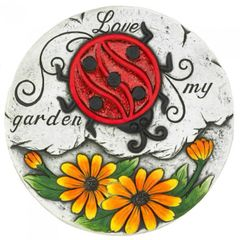 Sunflower and Ladybug Love My Garden Cement Stepping Stone