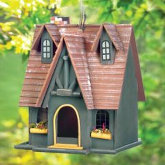 Wood Cottage Bird House