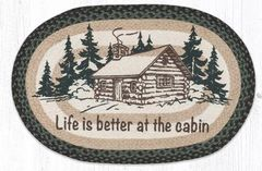 Life Better Cabin Oval Rug