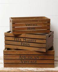 Crate - American Vintage Set of 3