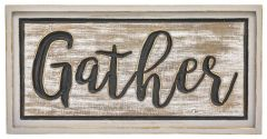 RUSTIC CALLIGRAPHY GATHER PLAQUE