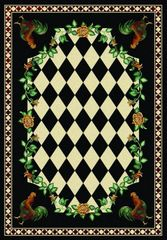 High Country Rooster - Rectangle - 5x8 - Black Rug