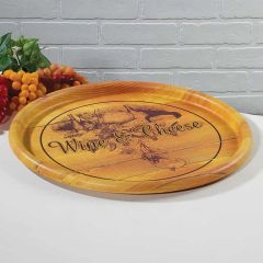 Wine and Cheese Food Safe Tray