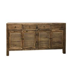 Reclaimed wood 4 shutter door side table