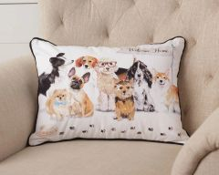 Playful Pups - Welcome Home Pillow