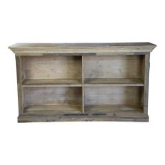 Rustic Wood Side Cabinet